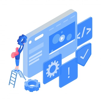 Coding, software optimization, testing isometric