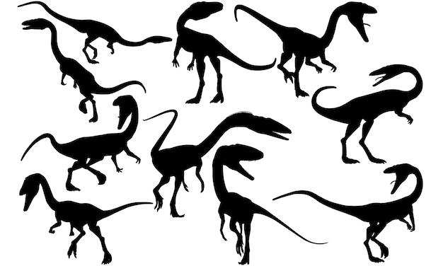 コエロフィシス恐竜シルエット