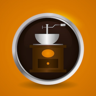 コーヒーのアイコンデザイン
