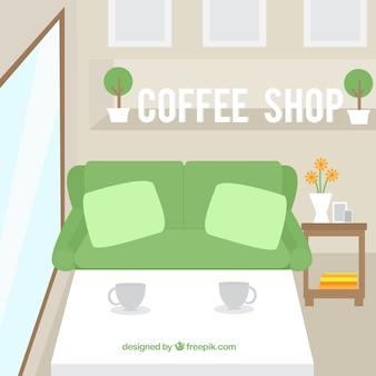 Negozio cofee, stile minimal