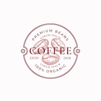 Coffe badge or logo template.