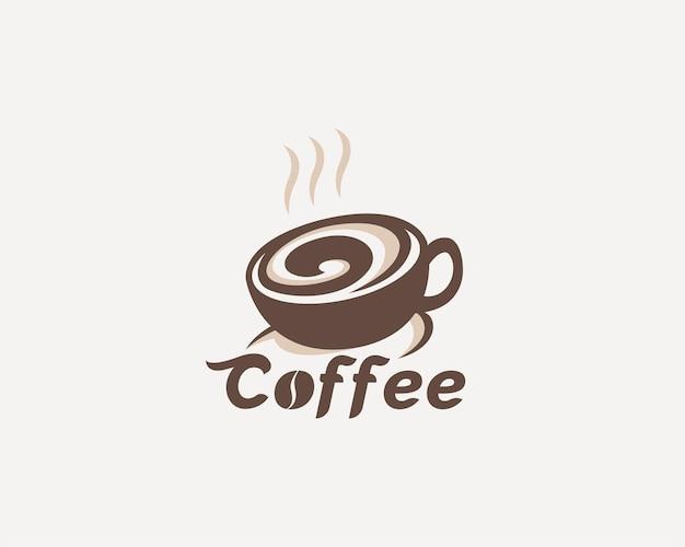 コーヒーカップのロゴデザイン
