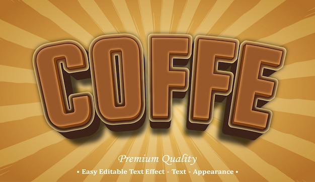 Coffe  font style effect