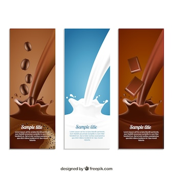 Coffe, milk and chocolate