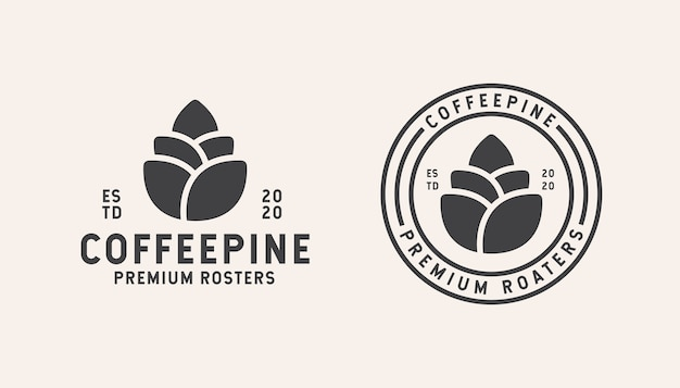 Coffe shop logo template design isolated on white