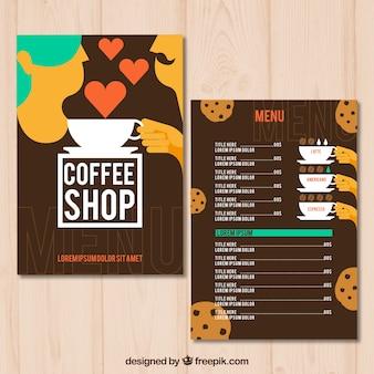 Menu del negozio di caffè