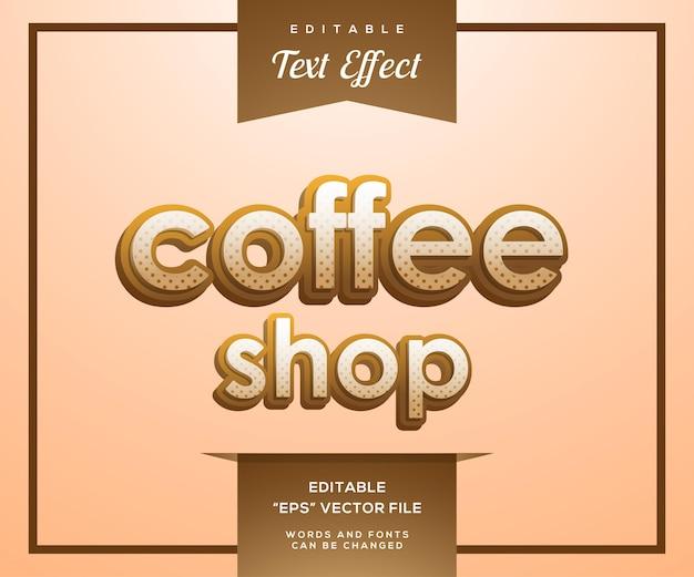 Текстовый эффект в стиле кафе