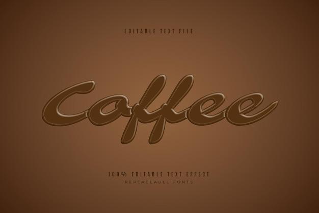커피 3d 편집 가능한 텍스트 효과