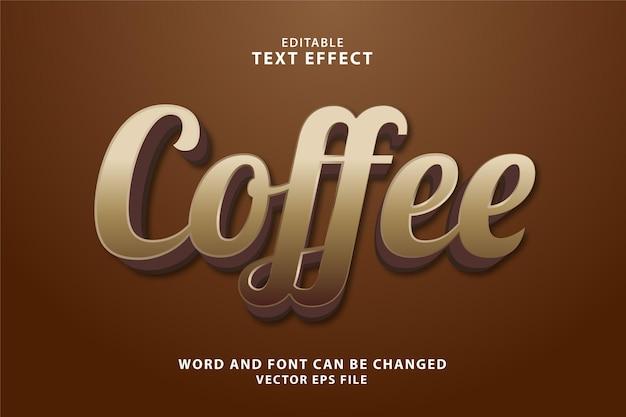Кофе 3d редактируемый текстовый эффект