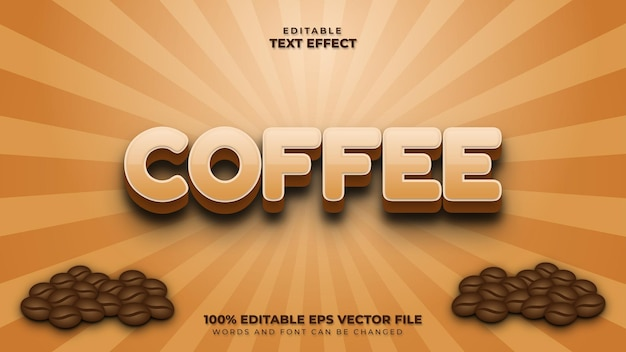 Coffee 3d text effect