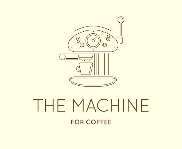 Значок кофейных принадлежностей с логотипом знака письма
