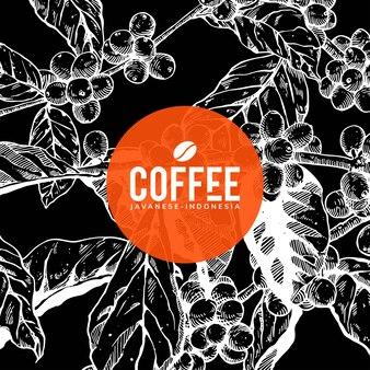 커피 배경 미술 디자인 (블랙)