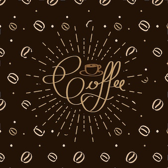 Coffee background and pattern