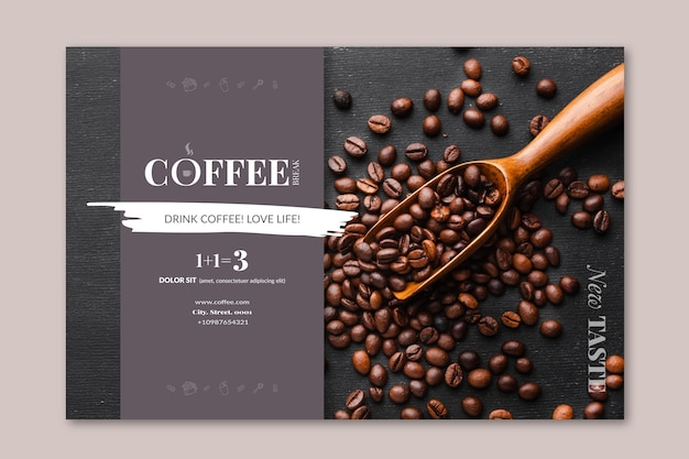 Coffee banner template Free Vector