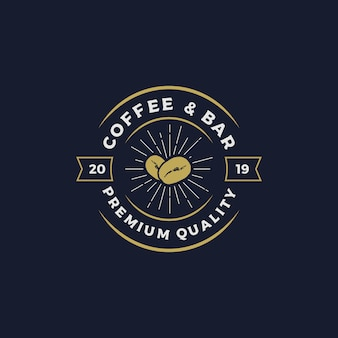 Coffee & bar logo design vector illustration