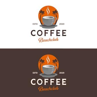 Дизайн логотипа кофейного пляжа