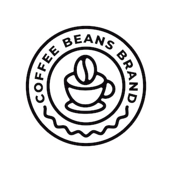 Coffee bean brand logo