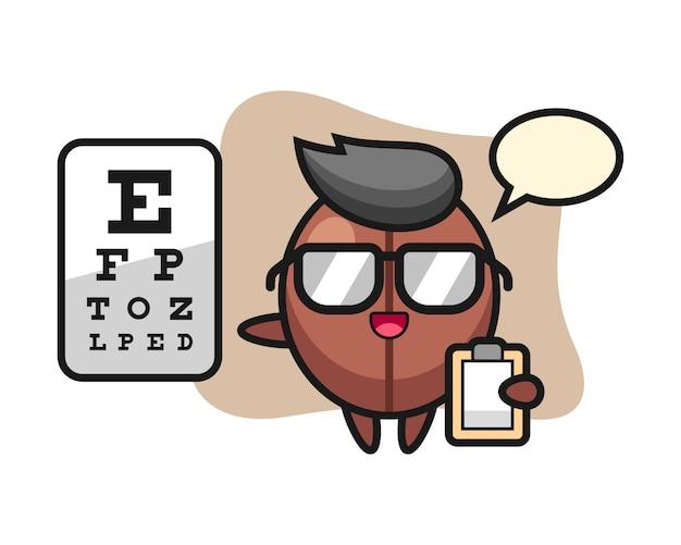 Coffee bean cartoon as a ophthalmology