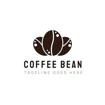 Coffee bean logo template. modern vintage coffee shop labels. vector icon illustration