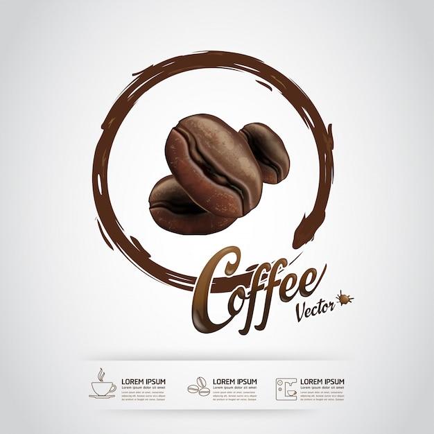 コーヒー豆テンプレート