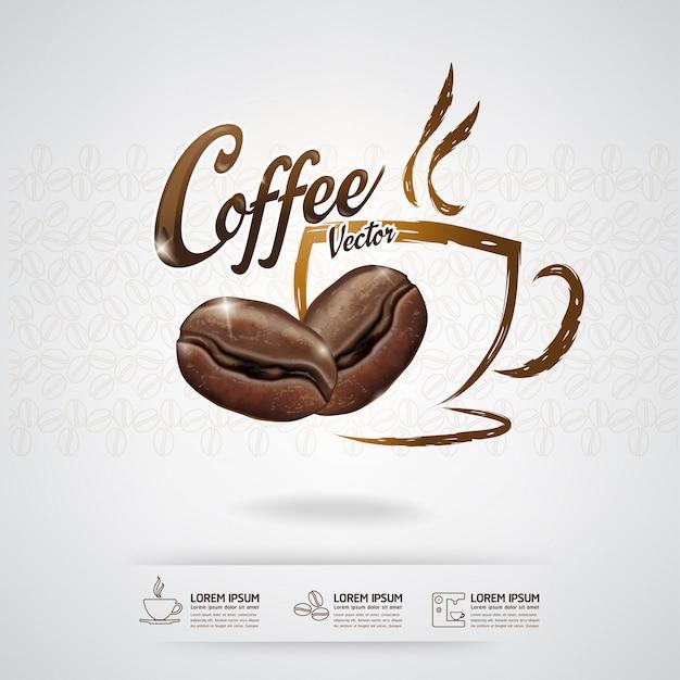 Coffee bean template