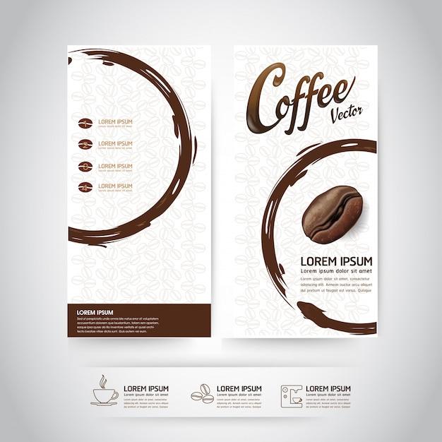 Шаблон кофе в зернах