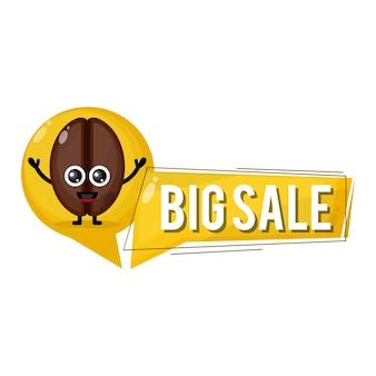 Coffee beans big sale cute character mascot