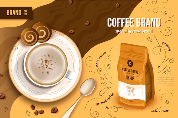Coffee beverage ad
