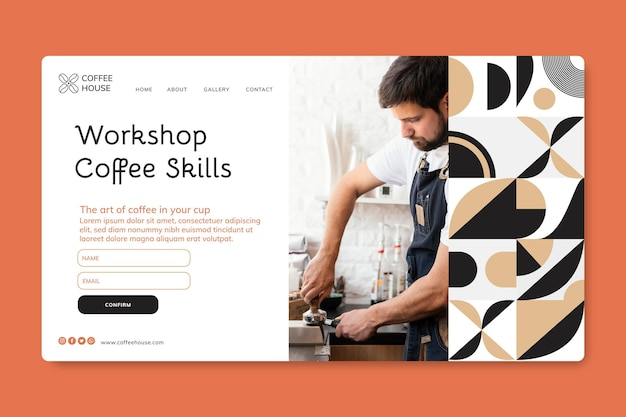 Coffee bistro landing page