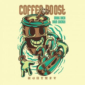 Иллюстрация увеличения количества кофе