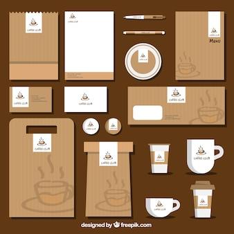Coffee brand stationery set
