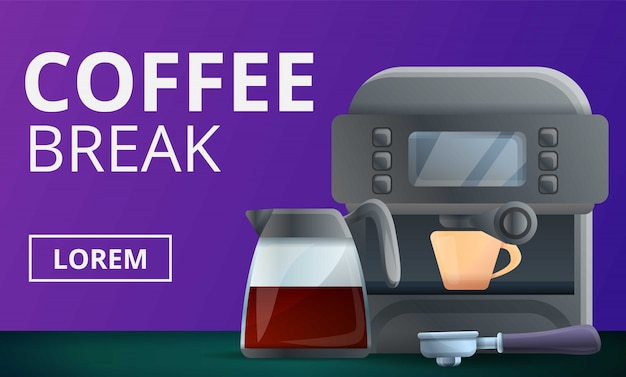 Coffee break concept illustration, cartoon style