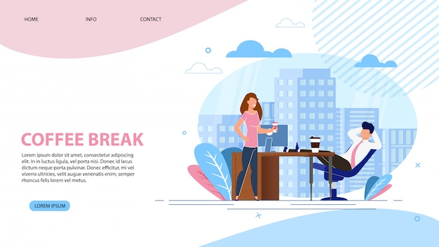 Coffee break landing page.