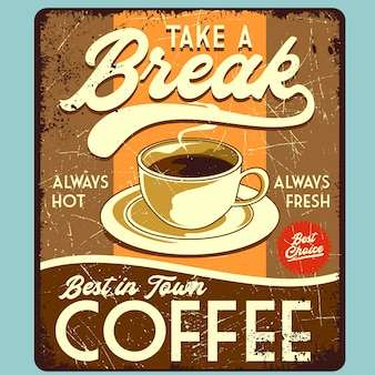 Coffee break poster print