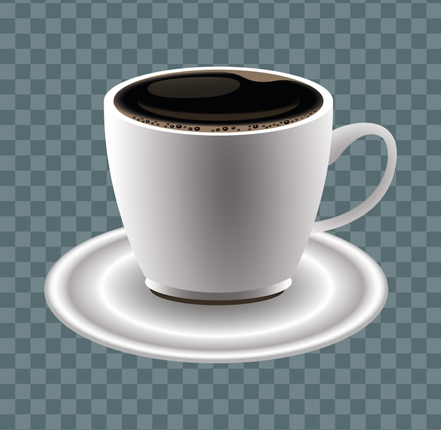 Coffee break poster with cup vector illustration design
