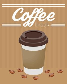 Coffee break take way pot