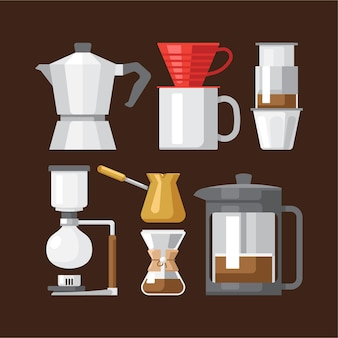 Coffee brewing devices collection