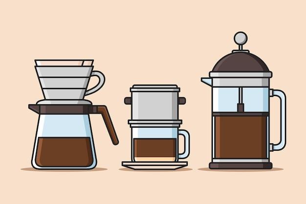 다양한 장치를 사용한 커피 추출 방법