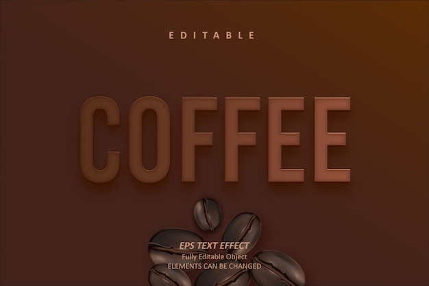 Coffee brown редактируемый текстовый эффект