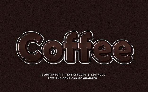 Coffee brown text effect