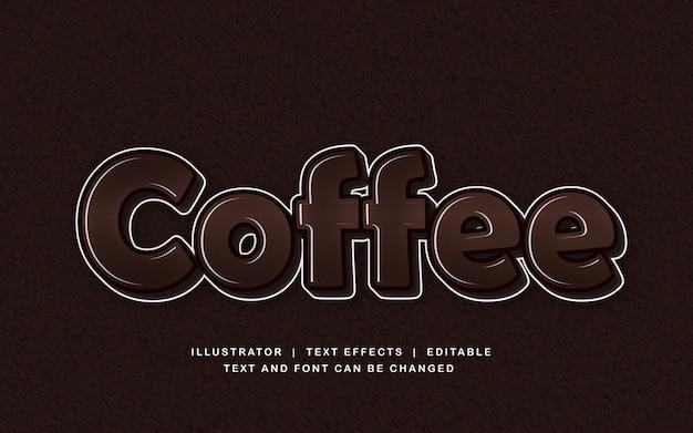 Кофейно-коричневый текстовый эффект