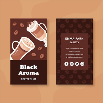 Coffee business card pack template
