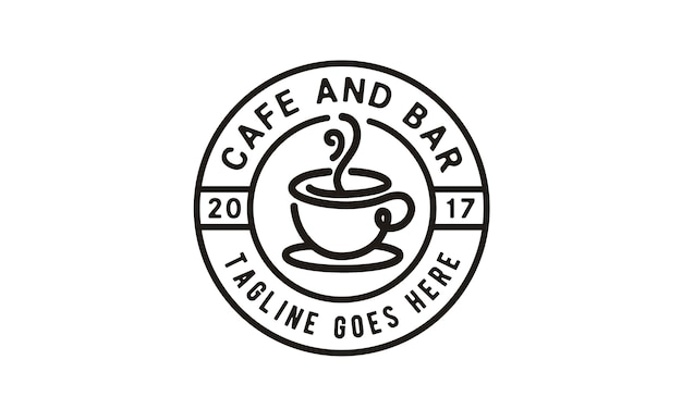 Coffee / cafe stamp logo design
