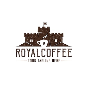 Coffee castle logo design