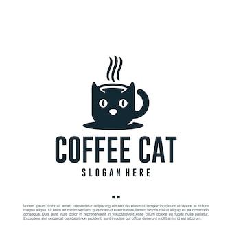Кофейный кот, дети, вдохновение для дизайна логотипа