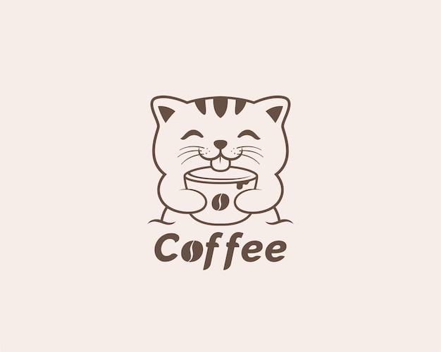コーヒー猫のロゴデザイン