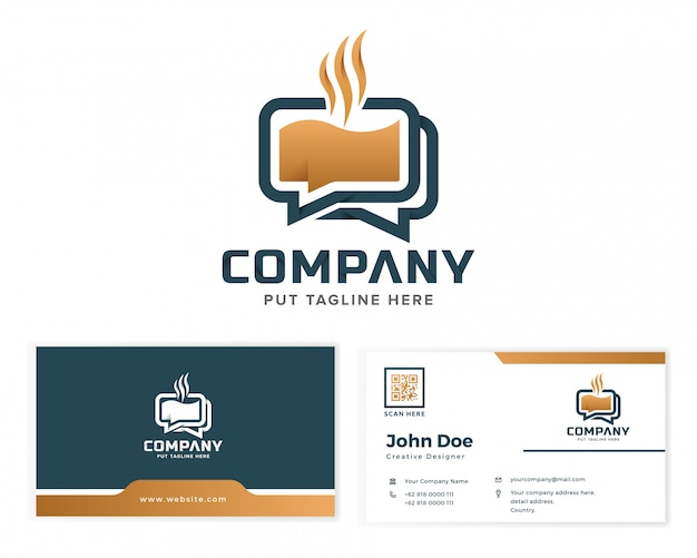 Coffee chat logo for business company