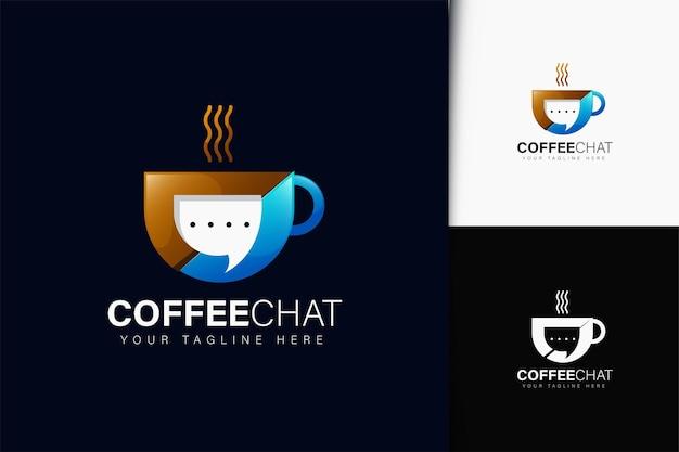 Дизайн логотипа кофейного чата с градиентом