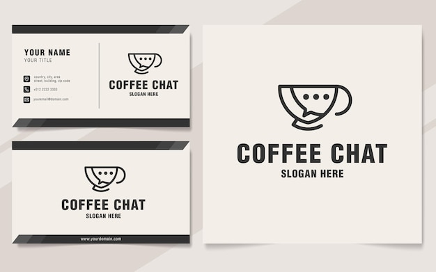 Coffee chat logo template monogram style