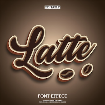 Coffee and chocolate typography text logo brand
